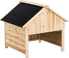 Holzgarage für Rasenroboter-schwarz