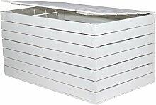 Holzkiste mit Deckel weiß *groß* 85x55x46cm