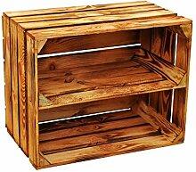Holzkiste Obstkiste Holz Schuhregal Neu Geflammt