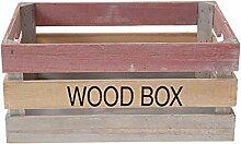 Holzkiste WOOD Box / Kiste 3 farbig 37x26x18cm