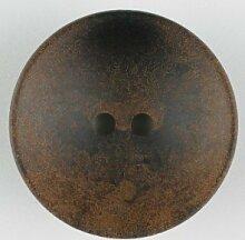 Holzknopf schalenförmig, 34mm - Farbe: braun