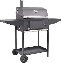 Holzkohlegrill Smoker mit Ablage Grill BBQ Smoker