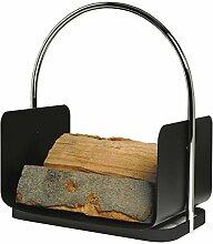 Holzkorb ANHALT schwarz beschichtet Holzkorb Korb Kaminzubehör Kamin Ofen