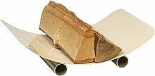 Holzkorb TRAUN elfenbeinfärbig Holzkorb Korb Kaminzubehör Kamin Ofen