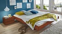 Holzliege Rimini, 160x200 cm, Buche