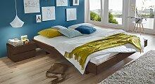 Holzliege Rimini, 160x200 cm, Buche wengefarben