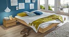 Holzliege Rimini, 180x200 cm, Buche natur