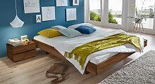 Holzliege Rimini, 90x200 cm, Buche nussbaumfarben