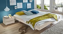 Holzliege Rimini, 90x200 cm, Buche weiß