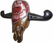Holzmaske Buffalo Wandmaske