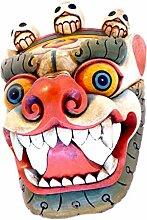 Holzmaske FOO Dog Nepal Handgemachte Holz Maske
