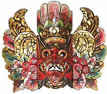 Holzmaske Garuda rot Wandmaske Wandskulptur