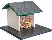 Holznager: Eichhörnchen Futterhaus aus Holz zum