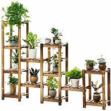 Holzpflanze Mehrstufiges Blumenholz Gartenregal