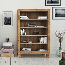Holzregal aus Wildeiche Massivholz Bücher