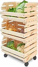 Holzregal für Gemüse und Kartoffeln