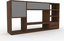 Holzregal Grau - Modernes Regal aus Holz: