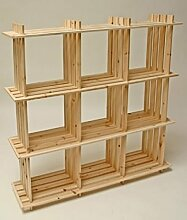 Holzregal mit 9 Fächern