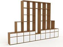 Holzregal Weiß - Modernes Regal aus Holz:
