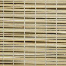 Holzrollo Breite 90 cm Länge 220 cm Farbe natur oder braun Seitenzug Fenster Tür Rollos (natur)