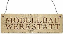 Holzschild Dekoschild MODELLBAU WERKSTATT Türschild Modellflieger Geschenkidee