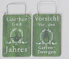Holzschild Garten sort. grün