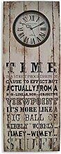 Holzschild mit Spruch und integrierter Wanduhr 80x30cm - Holzuhr Holzbild Schild Wandobjekt London England Dekoration Wandschild Wandbild Uhr Bahnhof nostalgisch