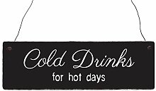 Holzschild Shabby Vintage Dekoschild COLD DRINKS