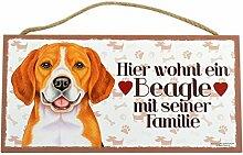 Holzschild Tierschild Hund Deko Beagle