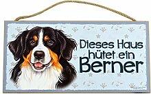Holzschild Tierschild Hund Deko Berner Sennen