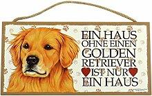 Holzschild Tierschild Hund Deko Golden Retriever