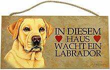 Holzschild Tierschild Hund Deko Labrador