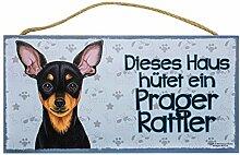 Holzschild Tierschild Hund Deko Prager Rattler
