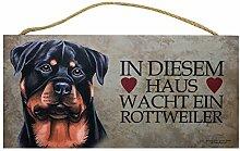 Holzschild Tierschild Hund Deko Rottweiler