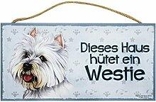 Holzschild Tierschild Hund Deko Westie West Highland White Terrier