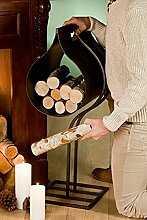 Holzschütte für Kamin, 75 cm, rusty