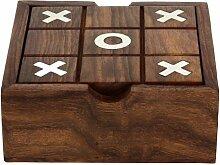 Holzspielzeug Aus Indien - Solitaire Und Tic Tac