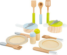 Holzspielzeug Geschirr- und Topfset bunt