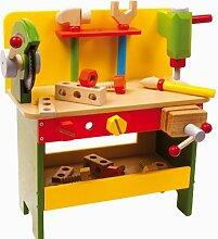Holzspielzeug Holz Werkbank Christian mit Geräten