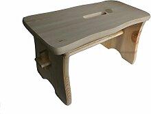 Holzstuhl Babystuhl Küchenstemmelunbehandelt und naturbelassen Stuhl - 39 x 18 x 21 cm