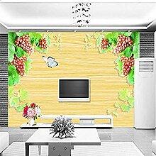 Holztafel Traube für Wände Wandbilder Tapete