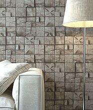 Holztapete in Braun Natur , schöne edle Tapete im Holz Balken Design , moderne 3D Optik für Wohnzimmer, Schlafzimmer oder Küche inklusive Newroom Tapezier Ratgeber mit Tipps für perfekte Wände