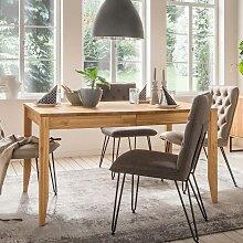 Holztisch aus Eiche Massivholz Mittelauszug