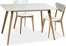 Holztisch Tisch Esstisch Esszimmertisch Küchentisch 80x140 Matt Weiss
