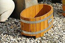 Holztrog als Pflanzgefäß,54cm Durchmesser