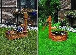 Holztrog für Bepflanzung oder als Wasserspiel