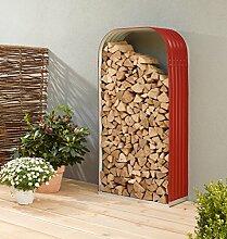 Holzunterstand Hochformat Ziegelrot/rot,