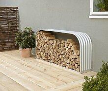 Holzunterstand Querformat Aluminium / silber,