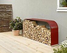 Holzunterstand Querformat ziegelrot / rot,