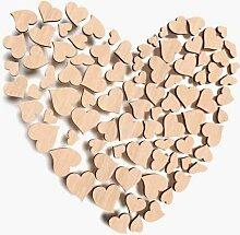 Holzverzierungen in Herzform; Herzen mit